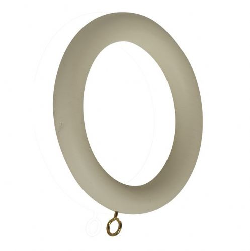 Modern Country 55mm Wooden Curtain Rings (Pack of 6) - Pearl